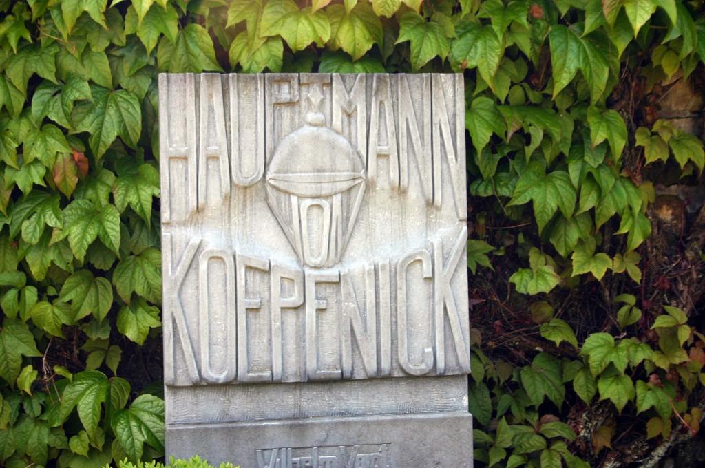 Grab von Wilhelm Vogt, Hauptmann von Köpenick