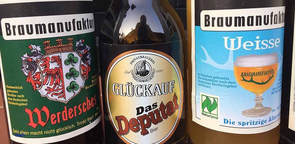 Deputatbier der glückauf Brauerei im Erzgebirge