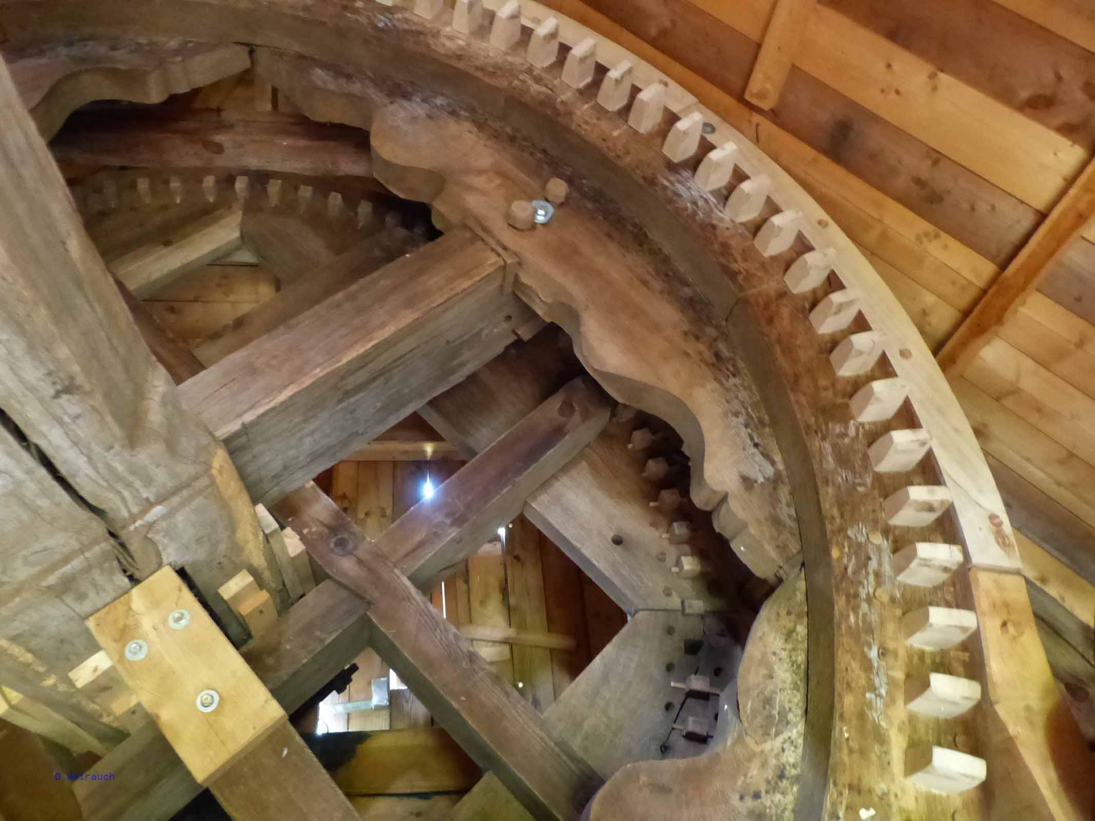 Königswelle in der Bockwindmühle von Borne im Fläming