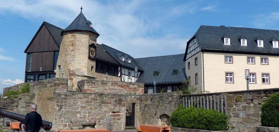 Blick auf Schloss Waldeck Foto: Weirauch