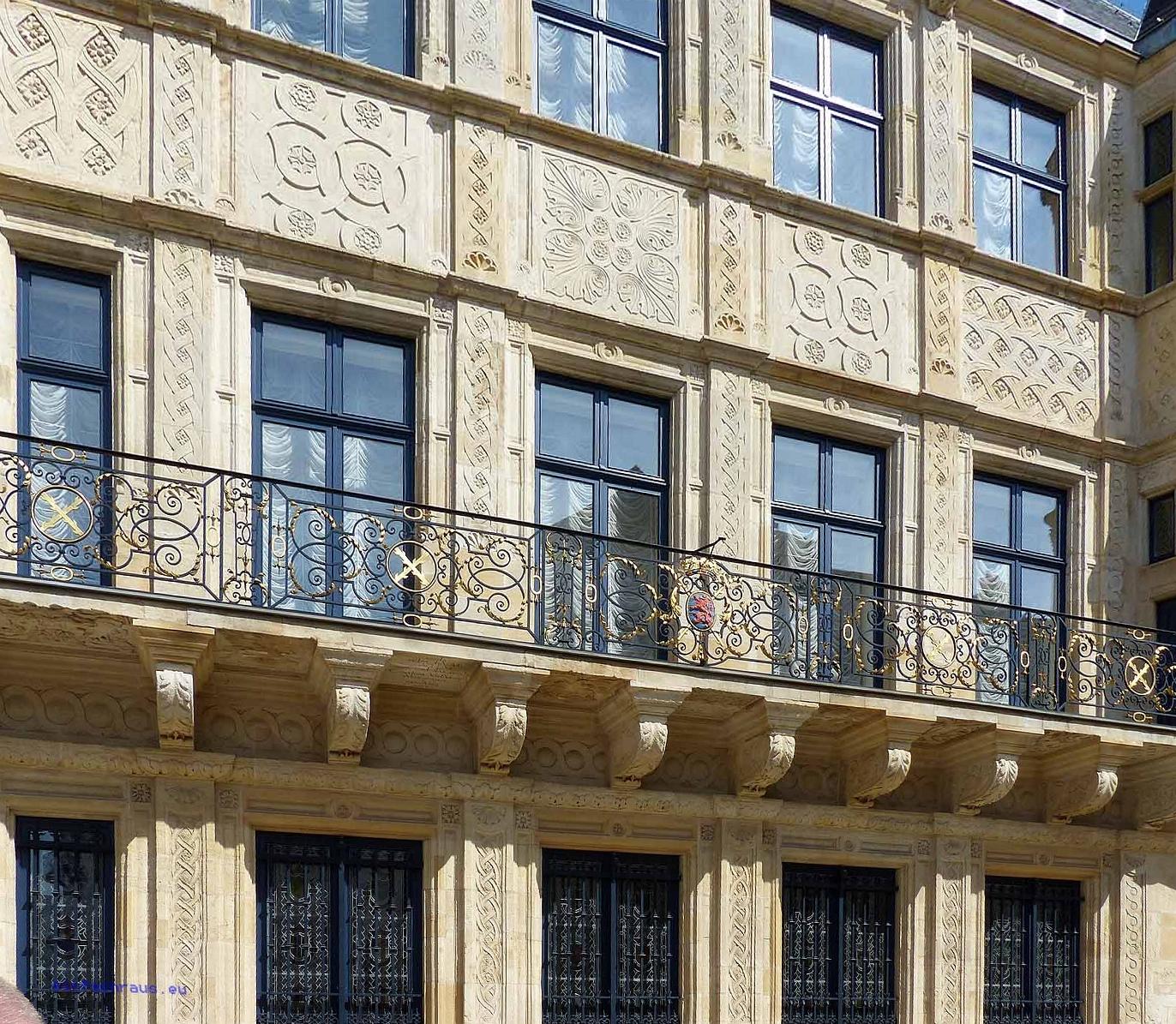 Blick auf den Großherzoglichen Palast in Luxemburg