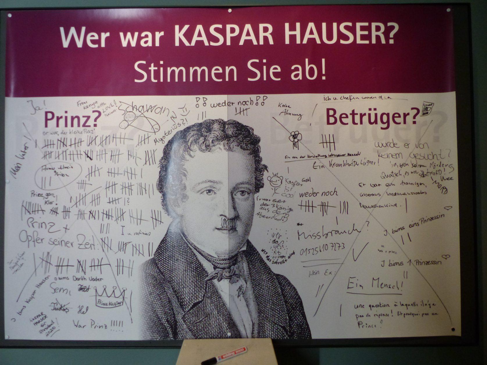 Im Museum für Kaspar Hauser können Besucher abstimmen, Foto: D.Weirauch