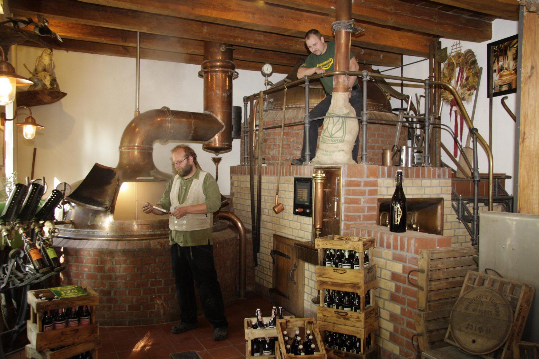Jörg Kirchhoff und Thomas Köhler von der Braumanufaktur Potsdam, Foto: Braumanufaktur Potsdam