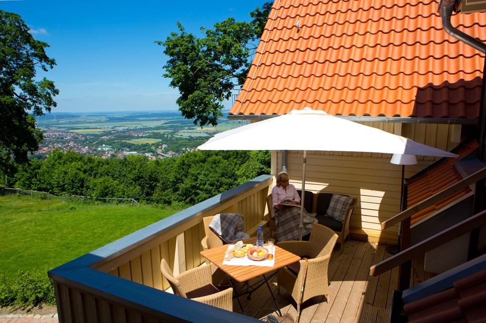 Blick vom Aussichtsreich auf Bad Harzburg, Foto: Plumbohms