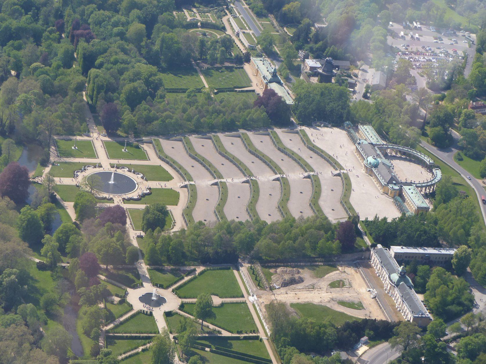 Sanssouci aus der Luft im Jahr 2016, Foto: D.Weirauch