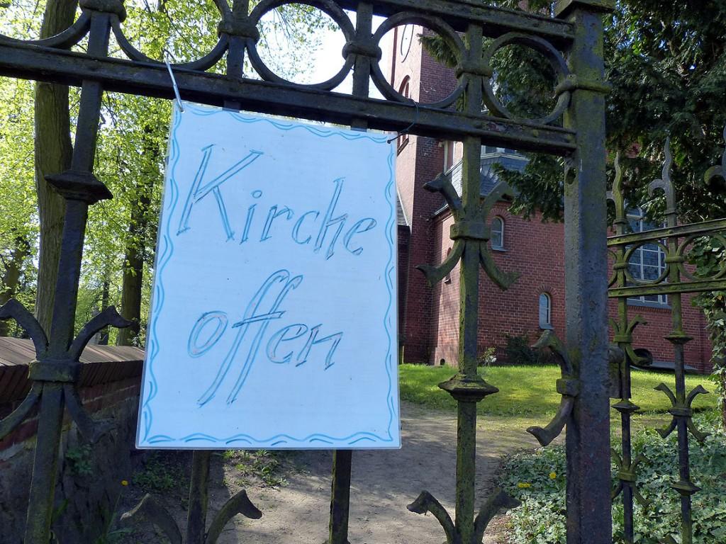 In Marquardt ist die Dorfkirche im Sommer meist geöffnet, Foto: D.Weirauch