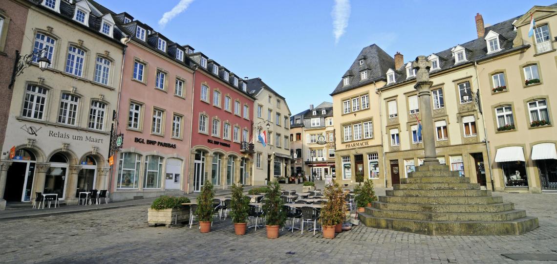 Marktplatz von Echternach, Foto: D. Weirauch