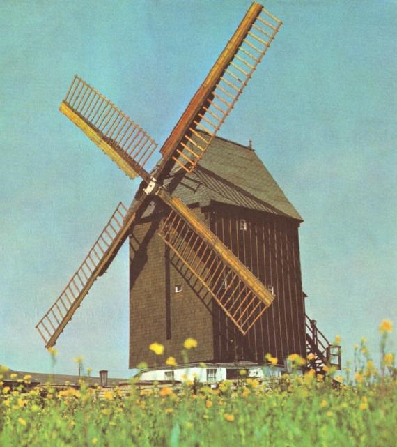 Fahrländer Mühle in den 70er Jahren auf einer Postkarte