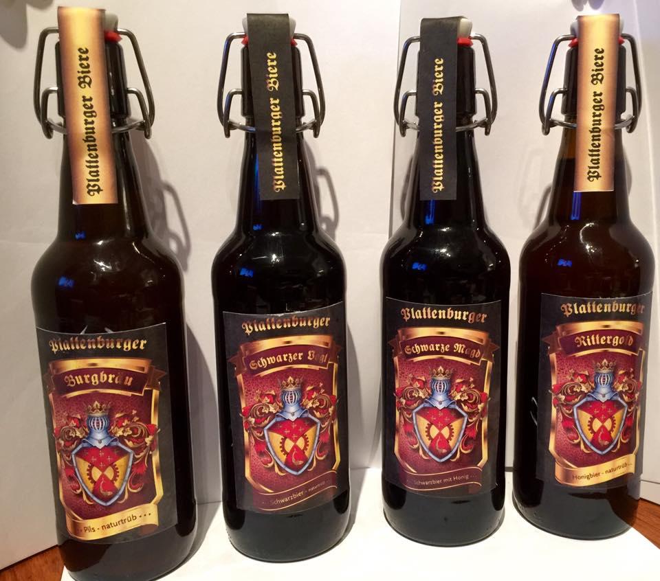 Plattenburger Biere kommen aus dem Brauhaus der Plattenburg in der Prignitz. Foto: Plattenburg