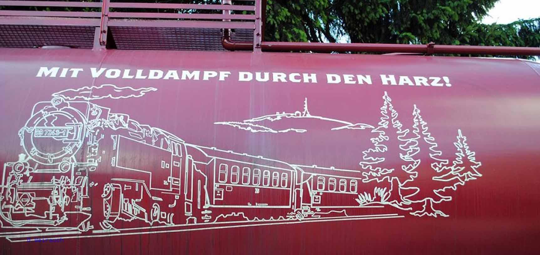 Mit der Harzquerbahn unterwegs