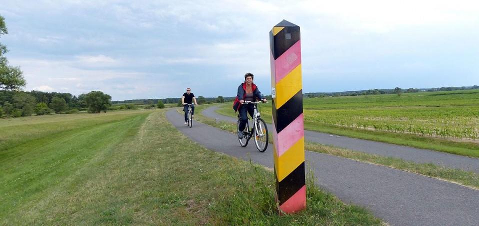 Auf dem Oder- Neiße- Radweg