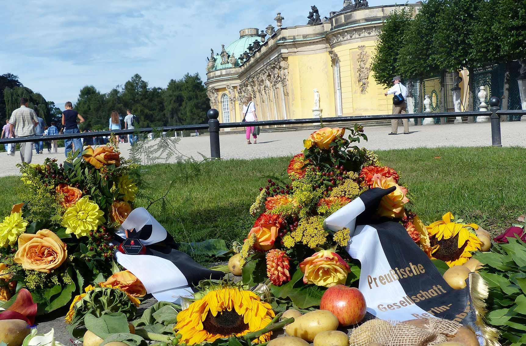 Friedrichs Grab am Schloss Sanssouci in Potsdam, Foto: D. Weirauch