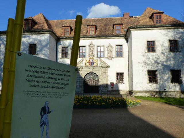 Blick auf das Alte Schloss in Bad Muskau Pückler