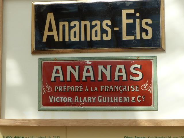 Blick in die Ausstellung zur Ananaszucht in Bad Muskau