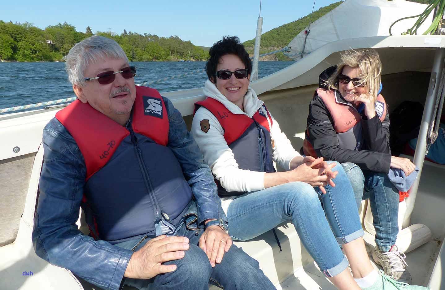 Lustig gehts zu auf dem Segelboot