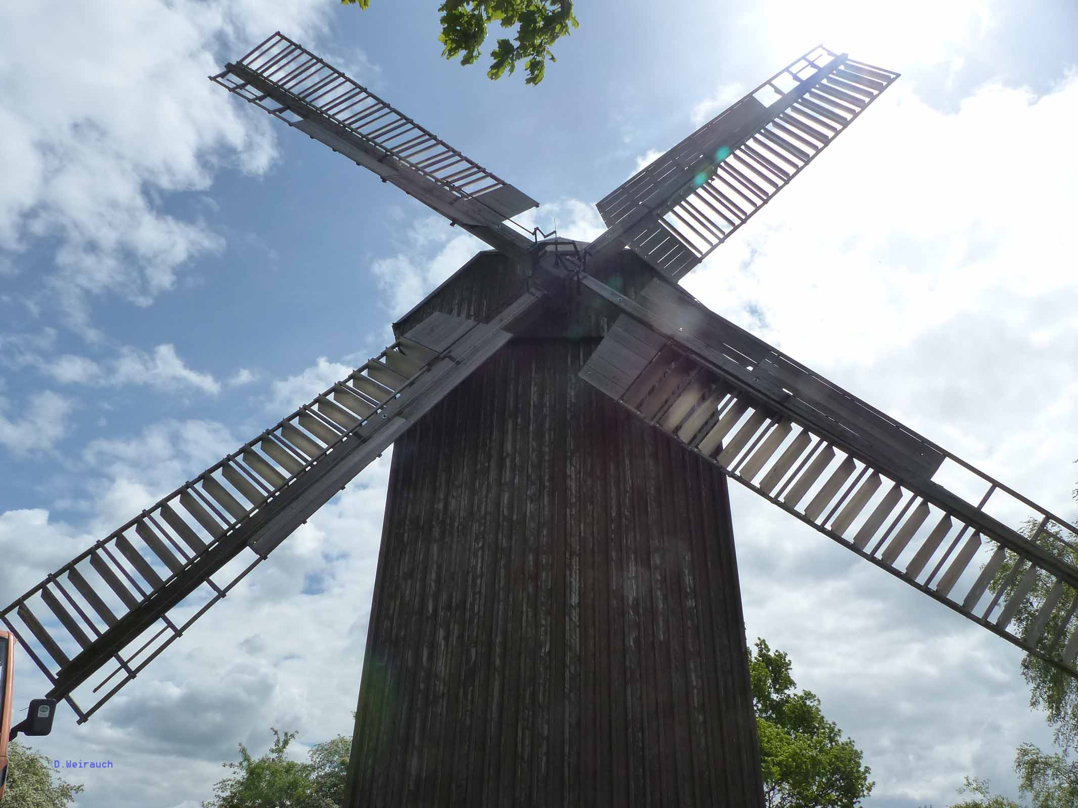 Ein Prachtstück: Bockwindmühle von Borne im Fläming