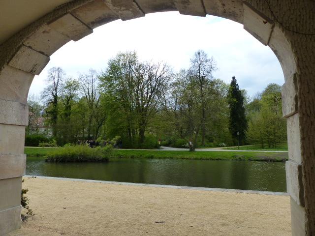 Blick vom Schloss auf den Muskauer Park