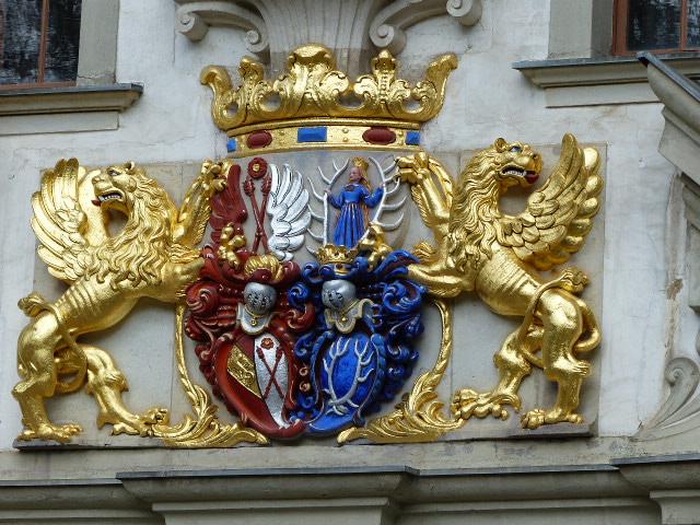 Wappen am Alten Schloss von Bad Muskau