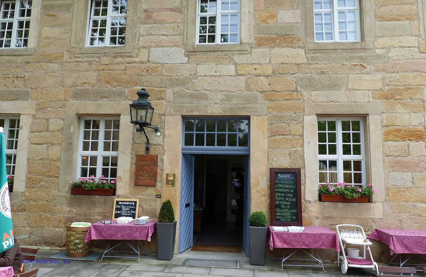 Gastfreundlich: Restaurant und Hotel Eremitage in Bayreuth