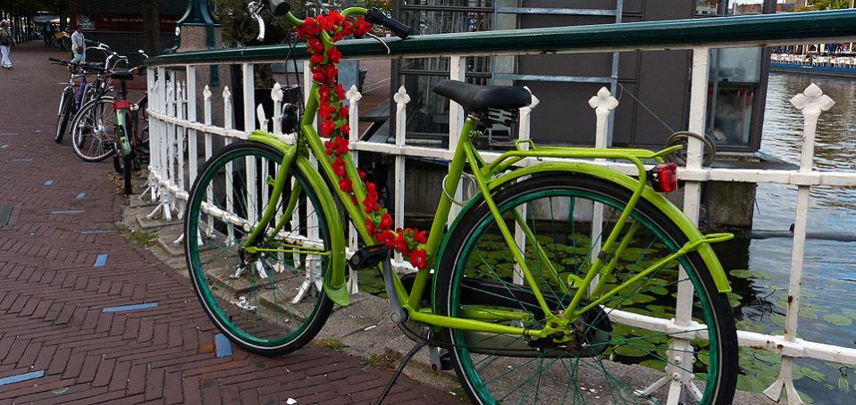 Überall Fahrräder in Leiden