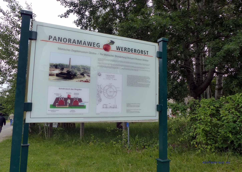 Die Neue Ziegelmanufaktur und das Ziegeleimuseum liegen direklt am Panoramaweg