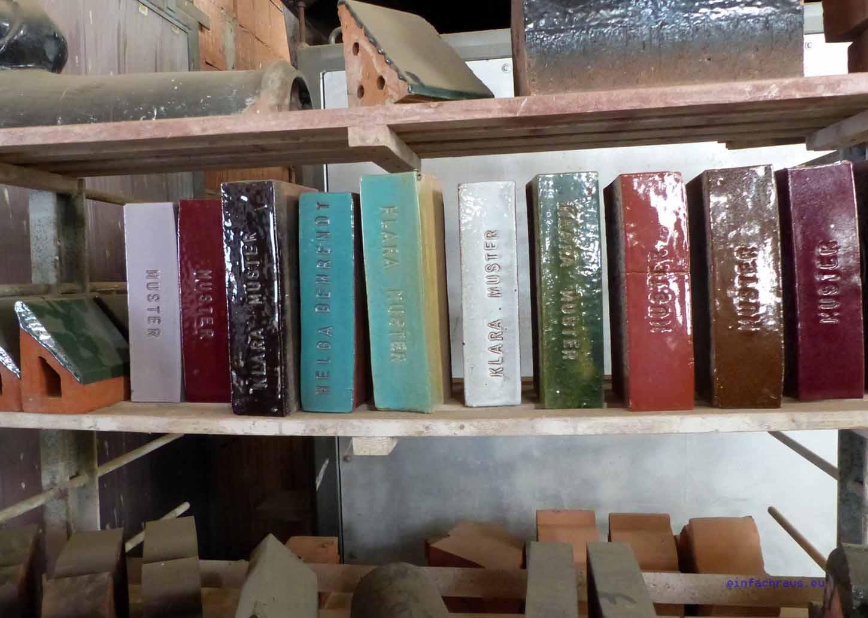 """Das steinerne """"Musterbuch"""" der Neuen Ziegel-Manufaktur Glindow"""