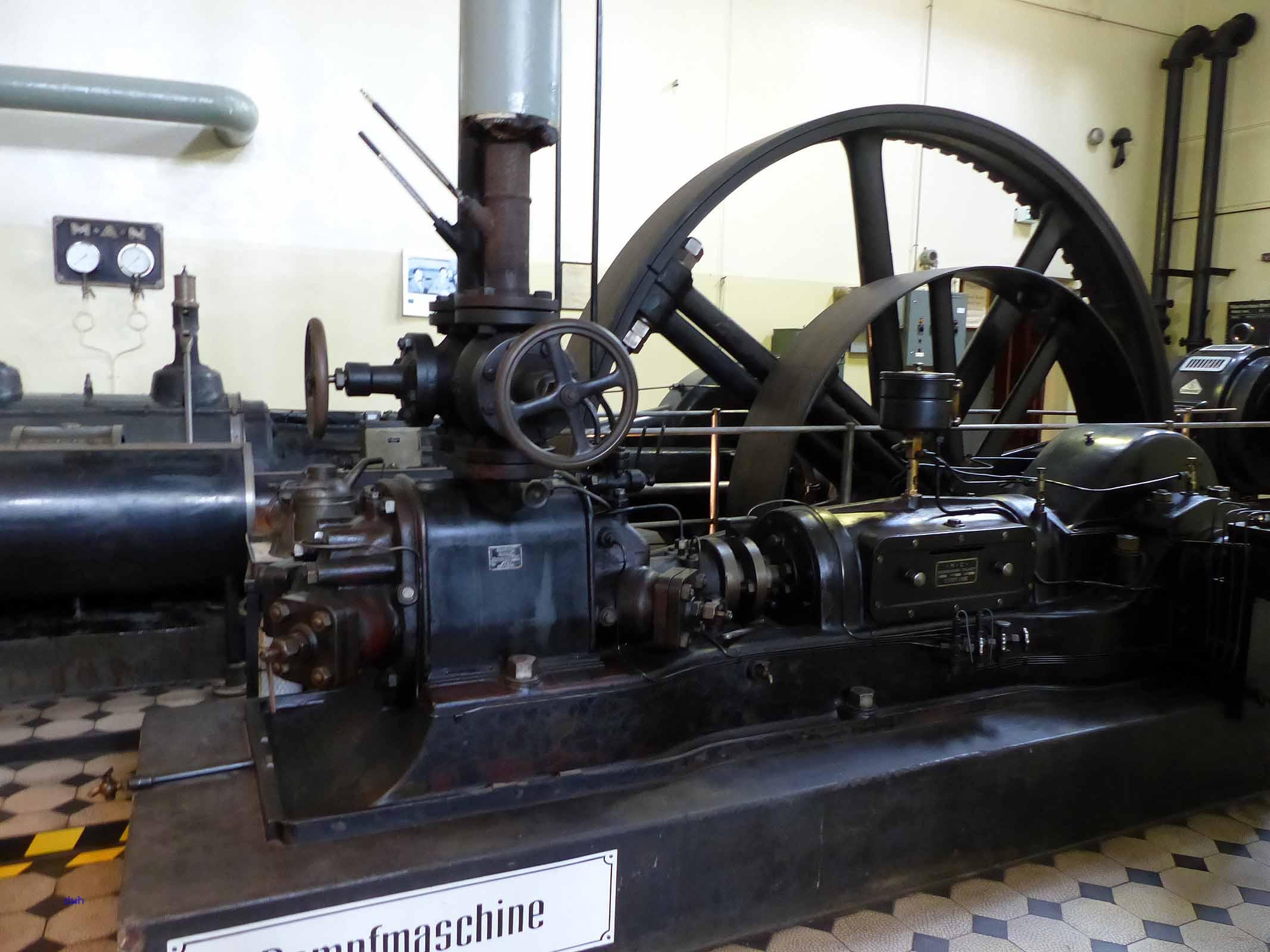 Dampfmaschine in der Brauerei Gebr. Maisel