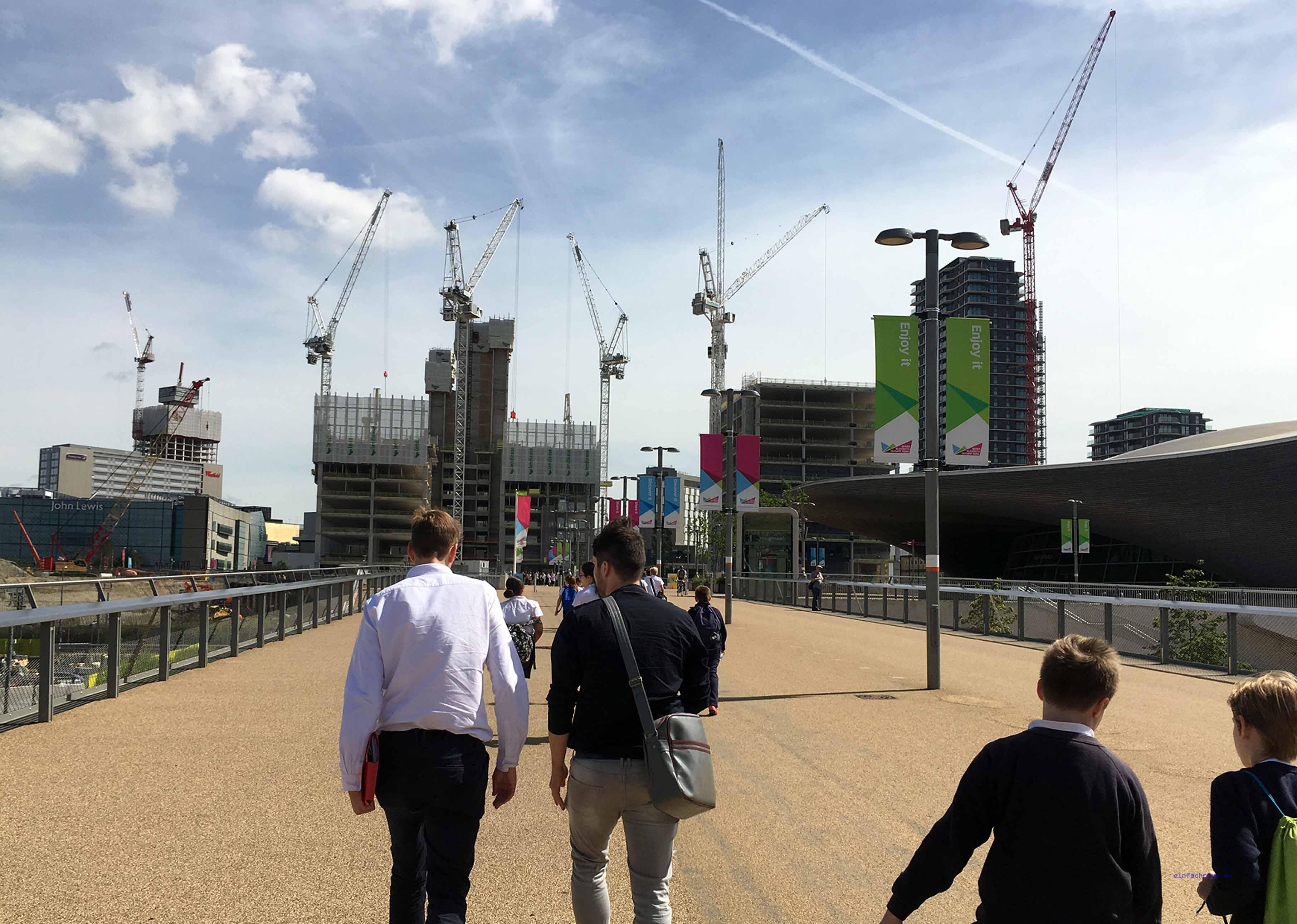 Überall wird gebaut in London