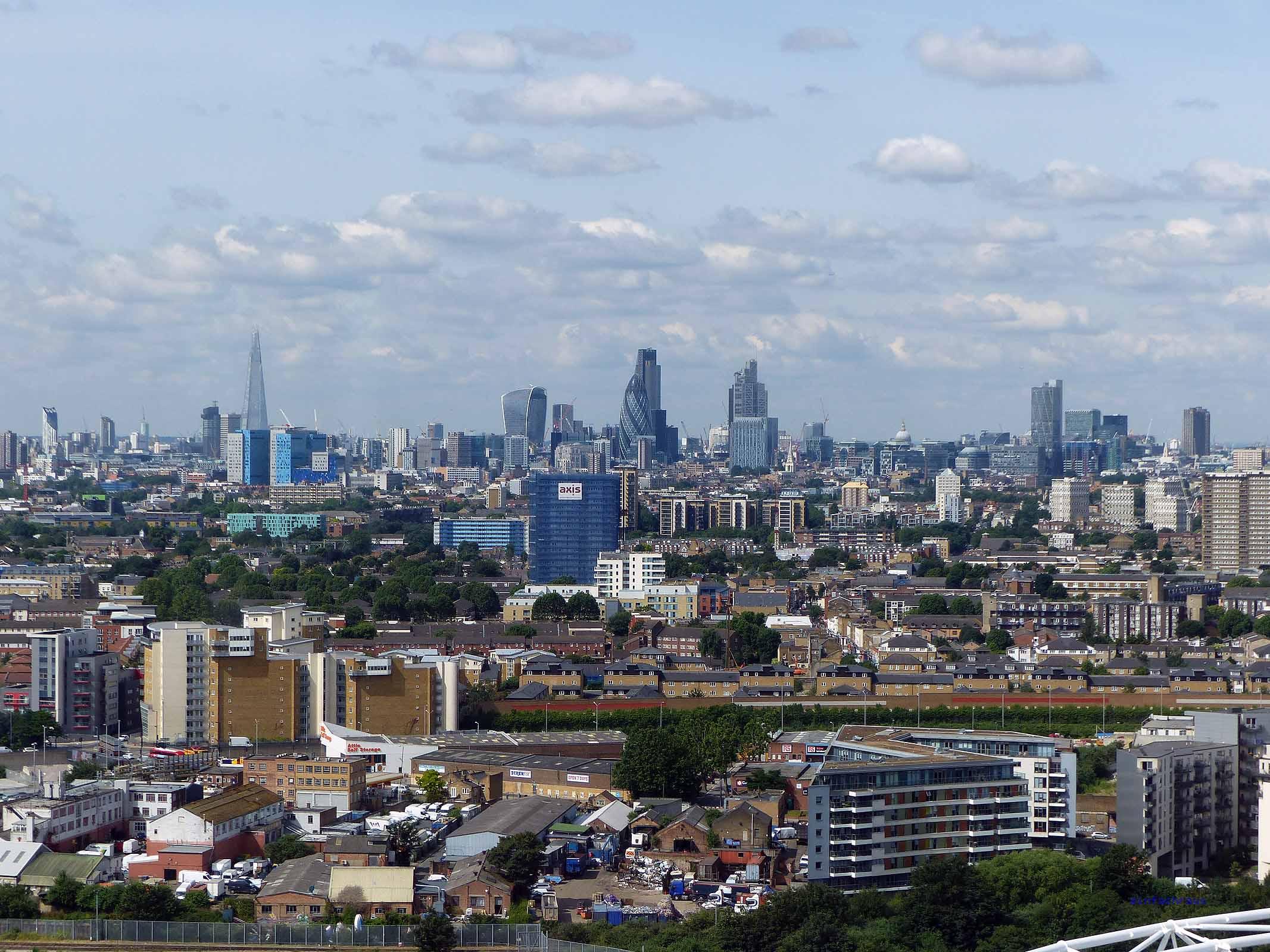 Vom Acelor Mittal Orbit hat man einen grandiosen Blick über London