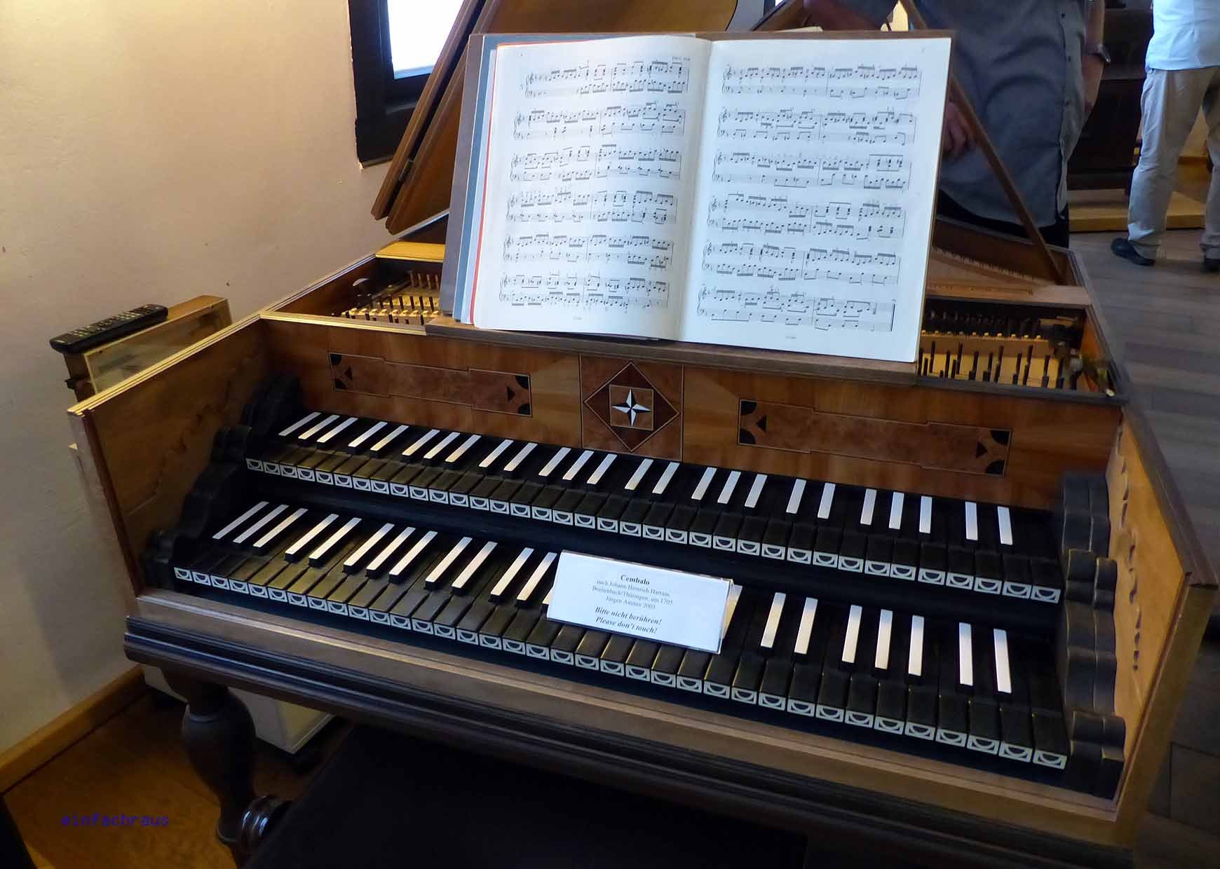 Cembalo aus der Bachzeit im Bachhaus Eisenach