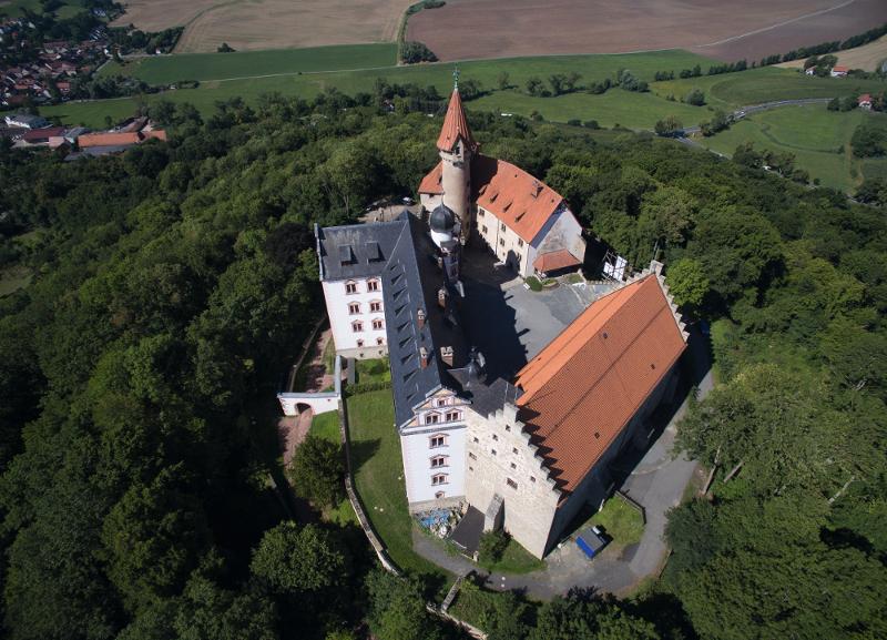 Veste Heldburg aus der Luft, Foto: Nürnberger Versicherung