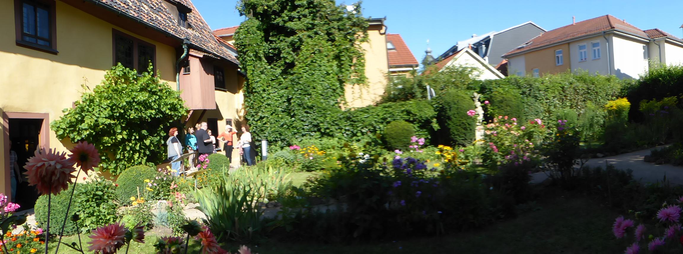 Im Garten des Bachhauses in Eisenach