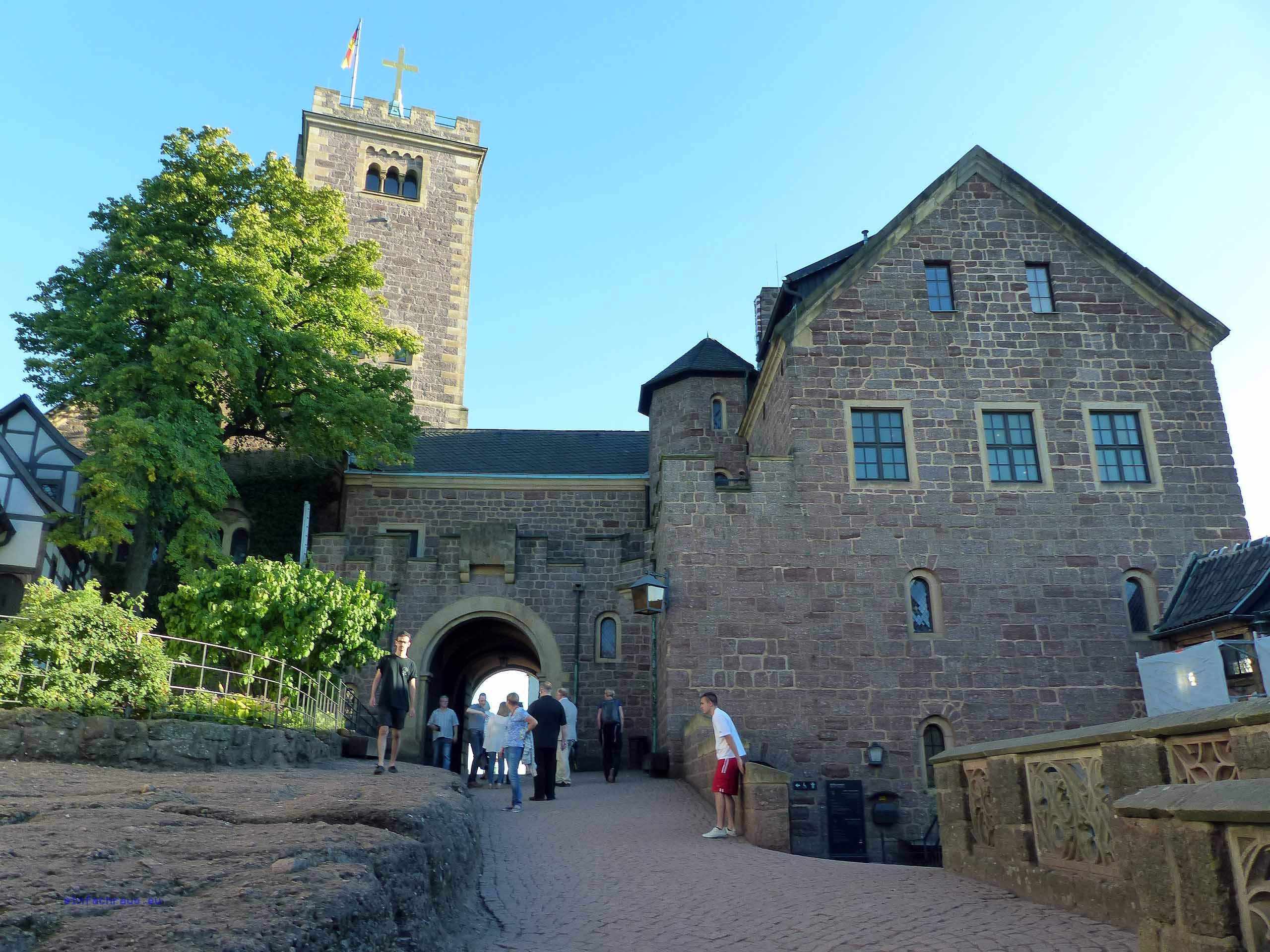 Aufgang zur Wartburg in Eisenach