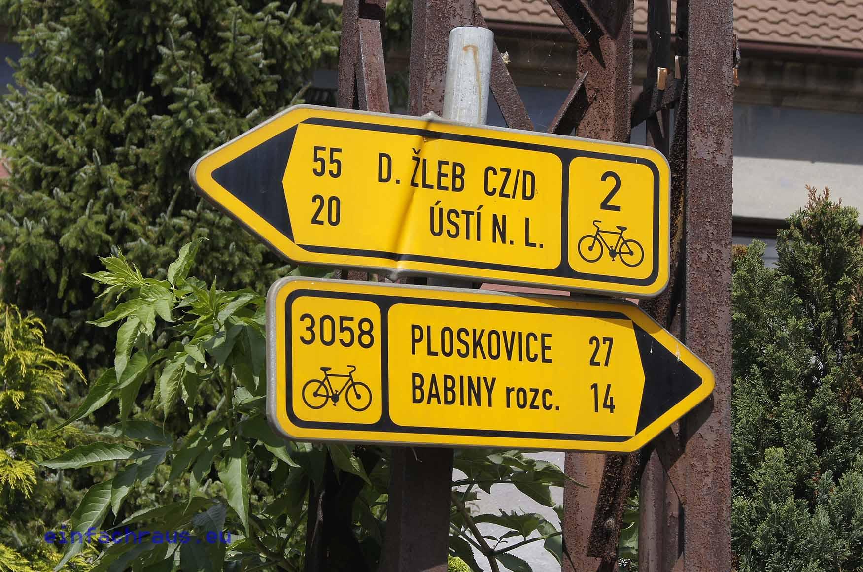 Wegweiser am Elberadweg, Foto: Klaus Klöppe