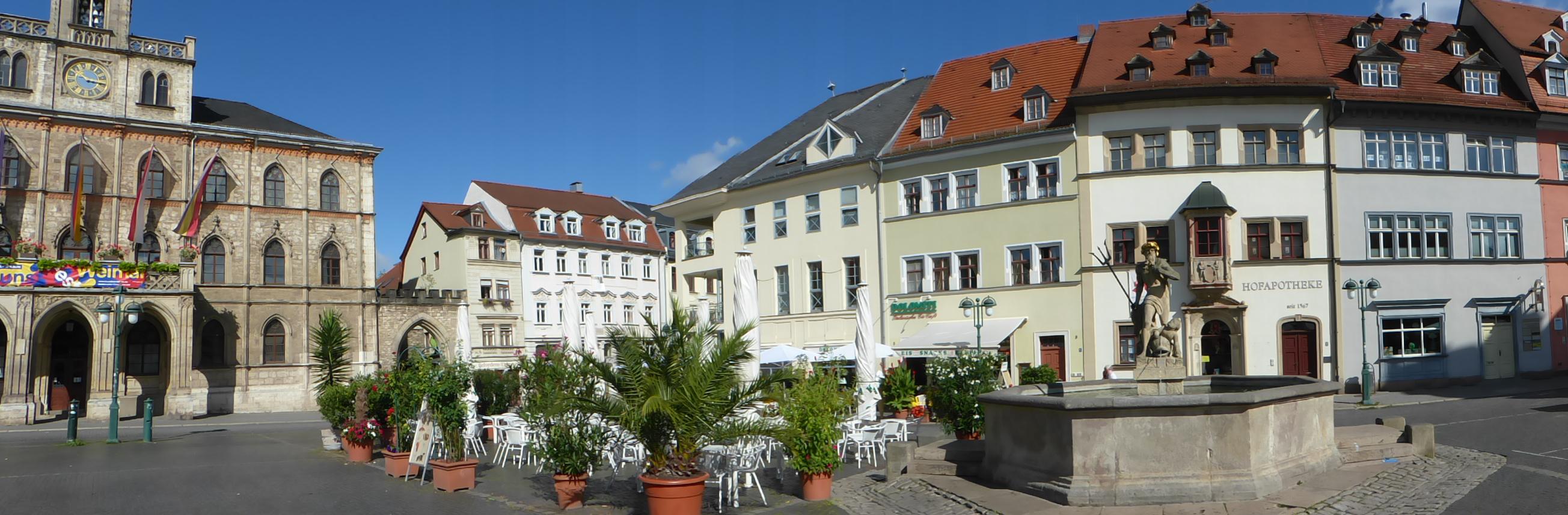 Marktplatz von Weimar, Foto: D.Weirauch
