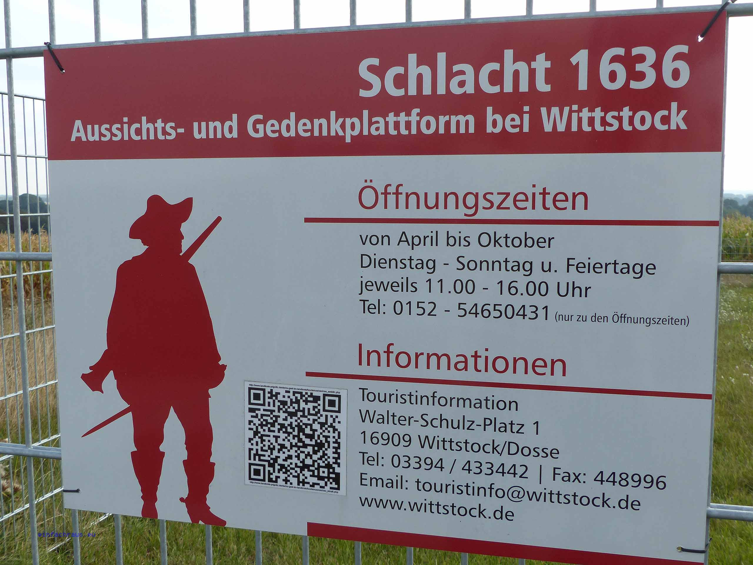 Erinnerungsstätte auf dem Scharfenberg bei Wittstock in der Prignitz, Foto: D.Weirauch