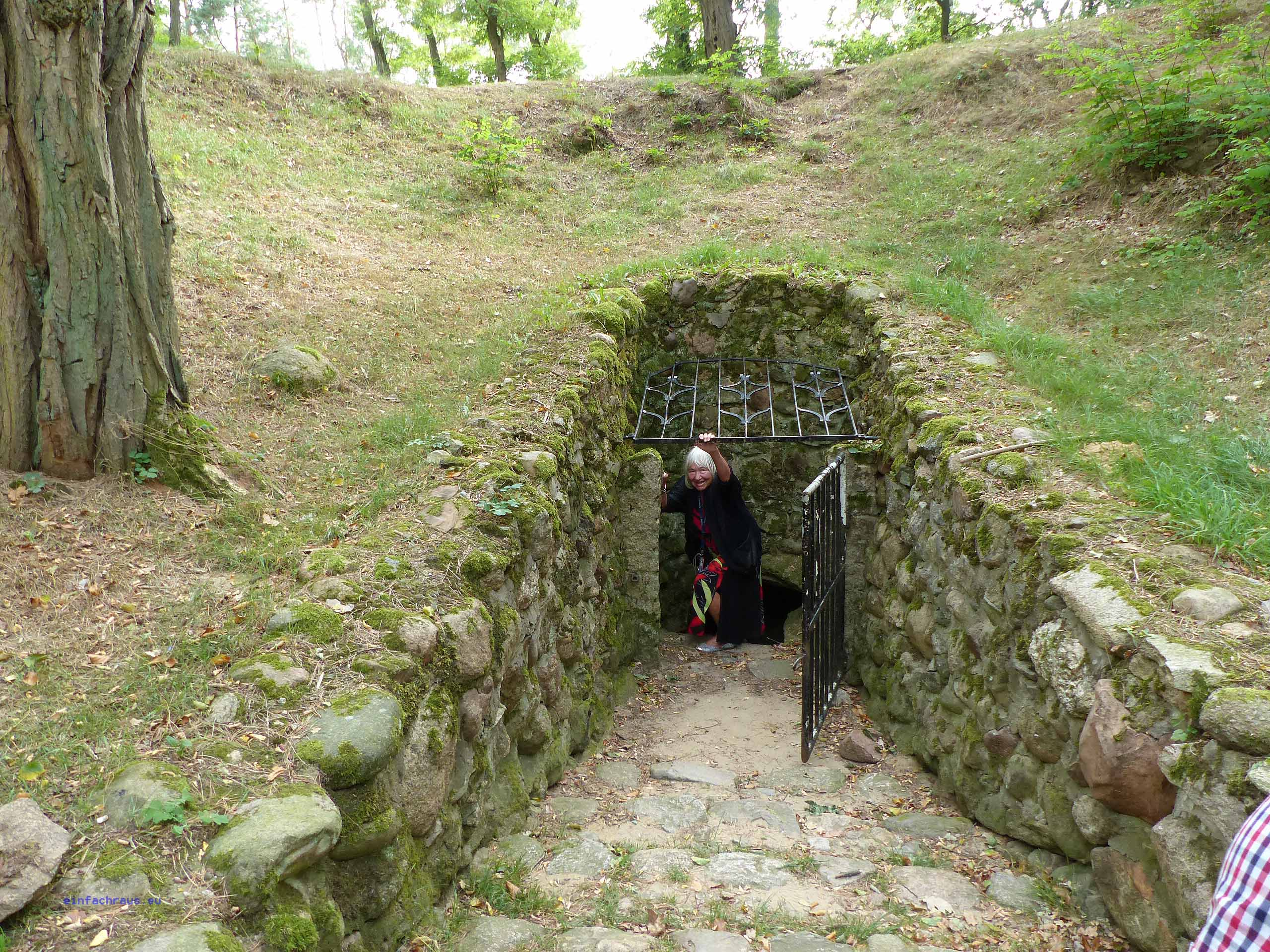 Eingang zum Königsgrab von Seddin in der Prignitz.