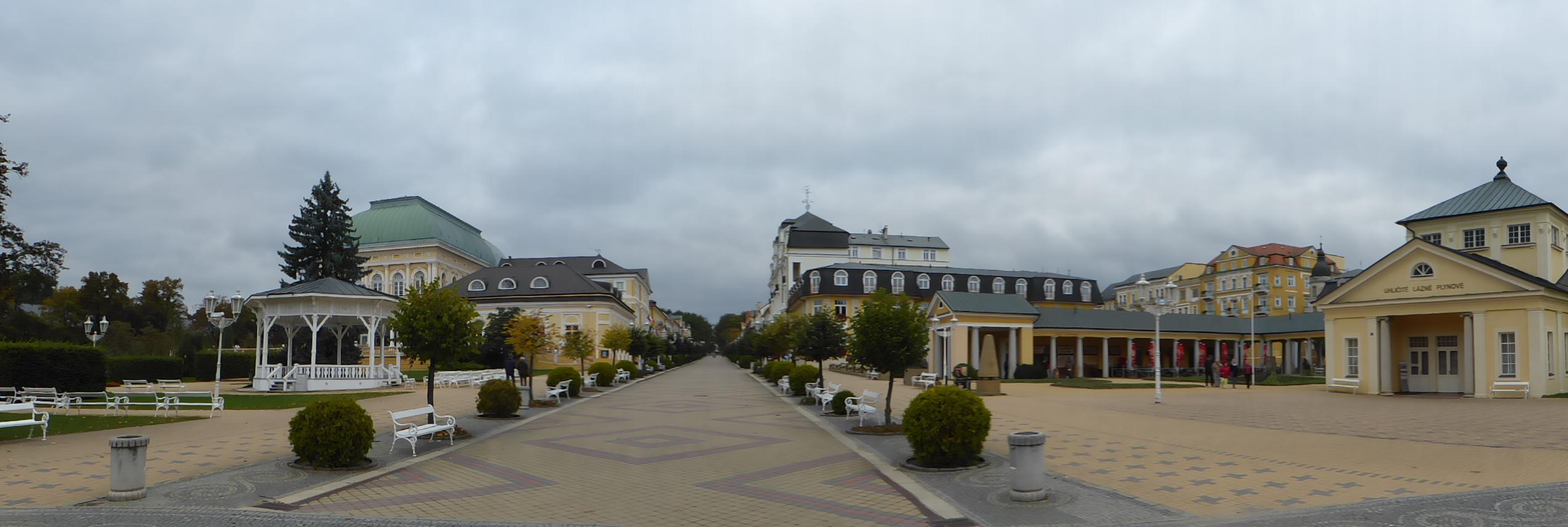 """Der """"Boulevard"""" in Franzensbad, Foto: D.Weirauch"""