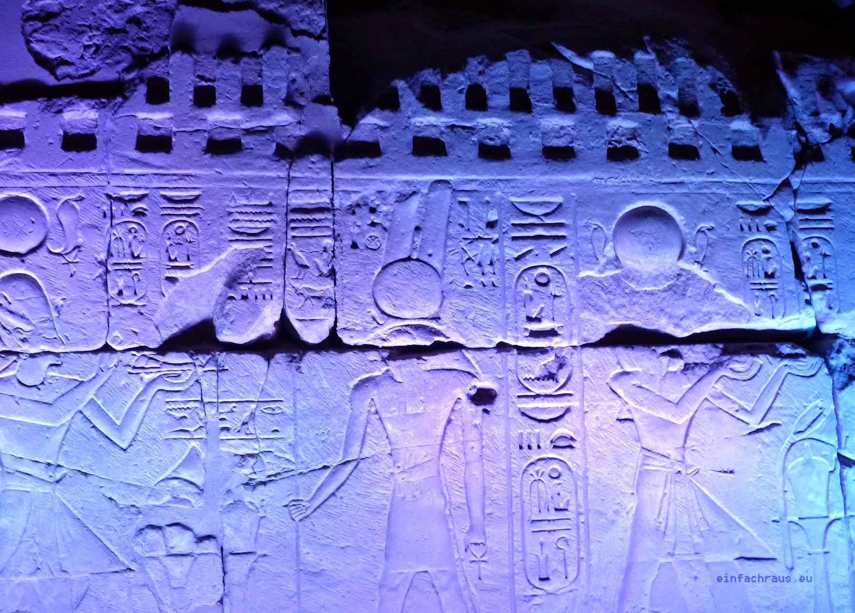 Inschrift an der Tempelanlage von Karnak, Foto: Weirauch