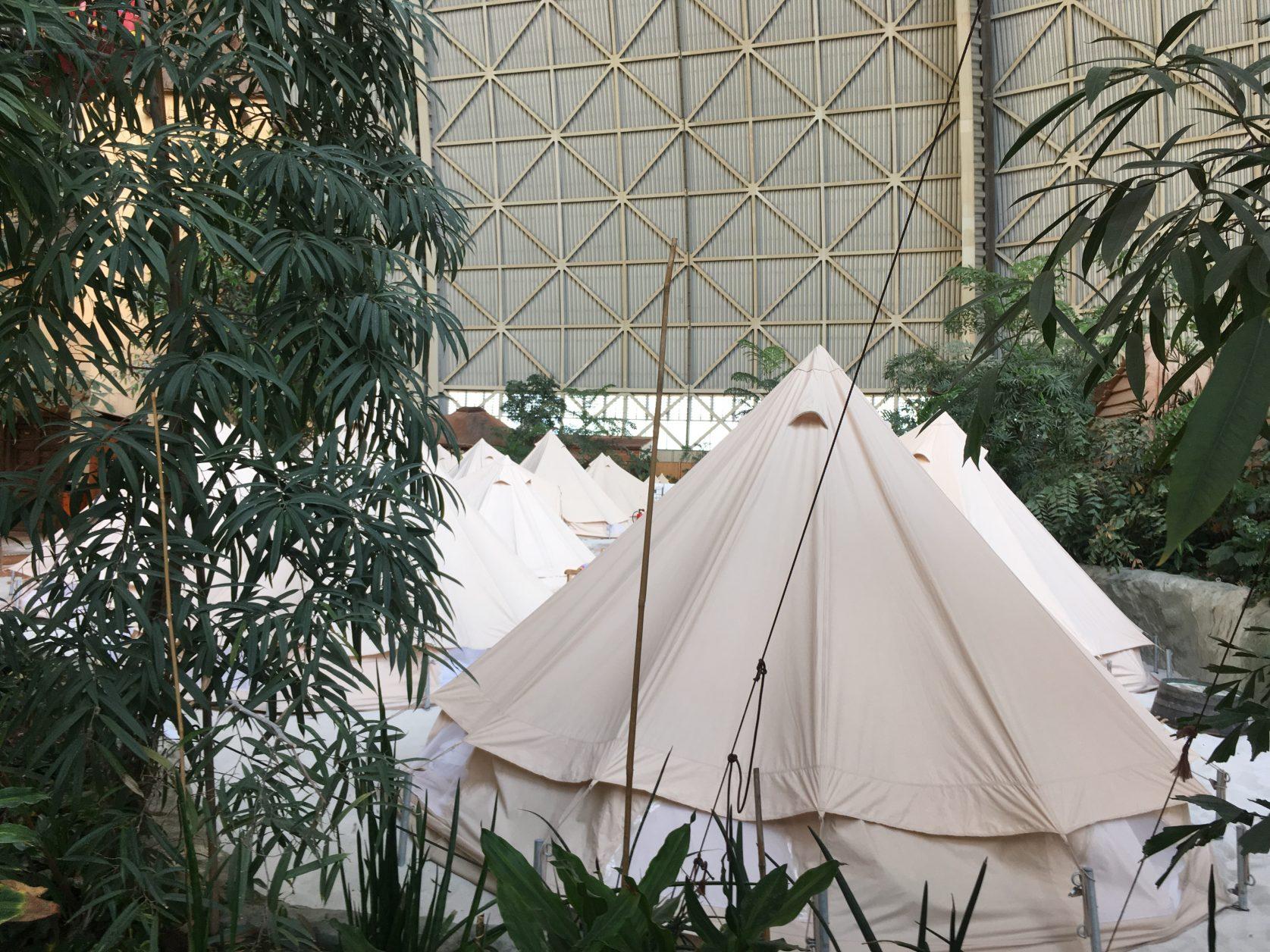 Die Zelte sind meistens ausgebucht, Foto: D.Weirauch