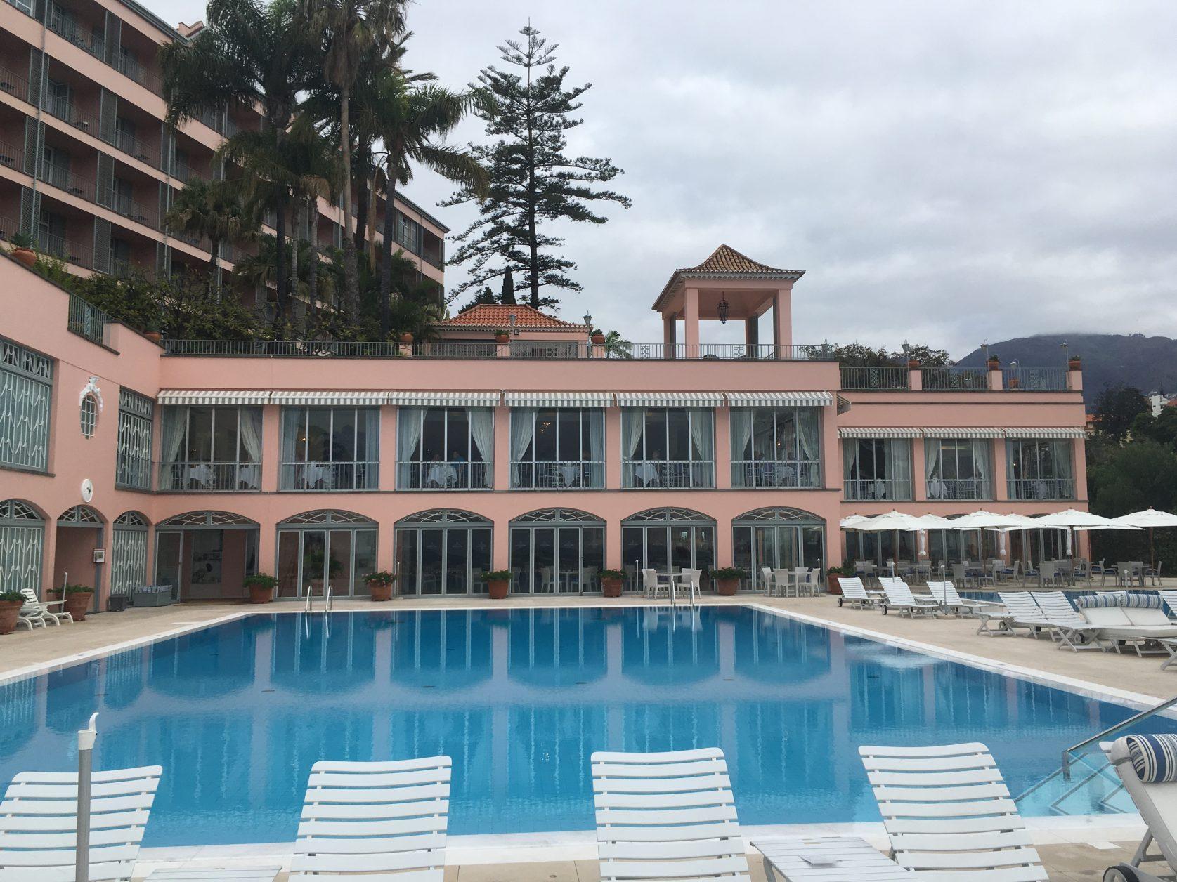 Der beheizte Pool des Reid`s in Funchal auf Madeira, Foto: D.Weirauch