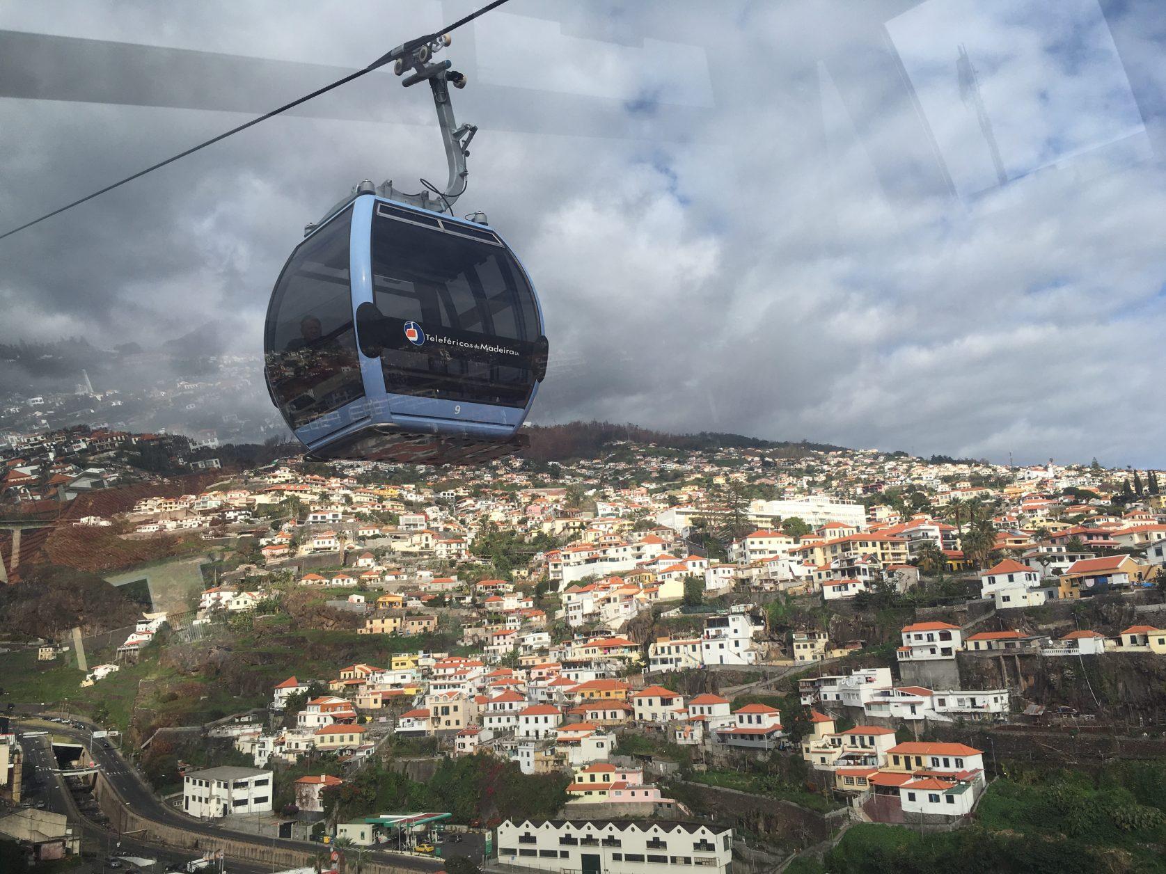 Mit der Seilbahn von Funchal hinauf nach Monte, Foto: D.Weirauch