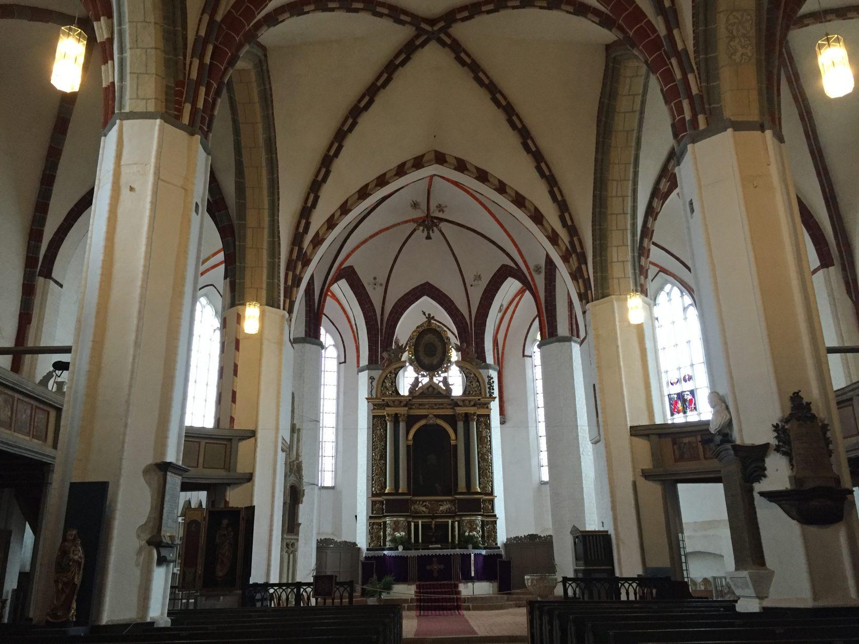 Blick in die Jüterboger Kirche Sankt Nikolai, Foto: D. Weirauch
