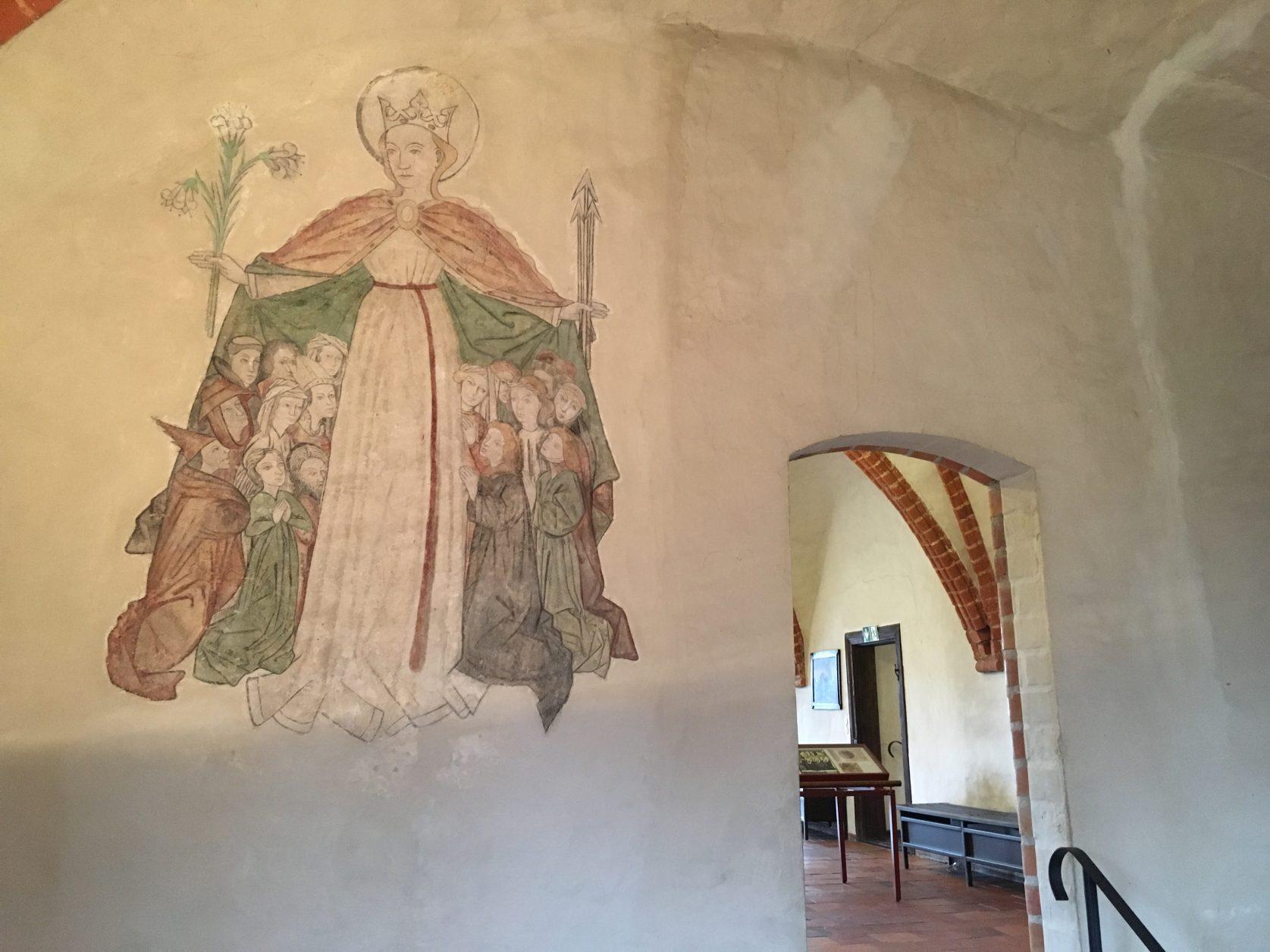 Freigelegte Freskenmalerei im Kloster Zinna, Foto: Weirauch