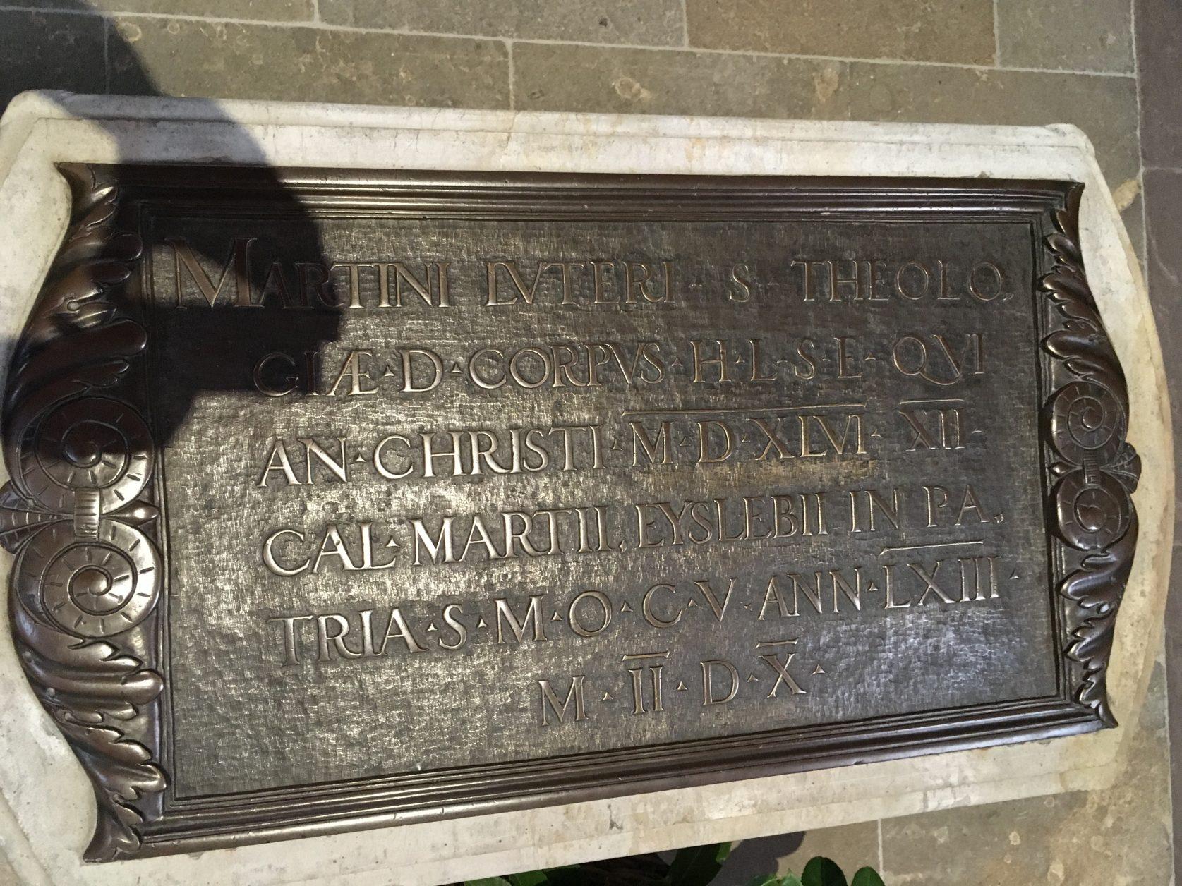 Grab Martin Luthers in der Schlosskirche von Wittenberg, Foto: D.Weirauch