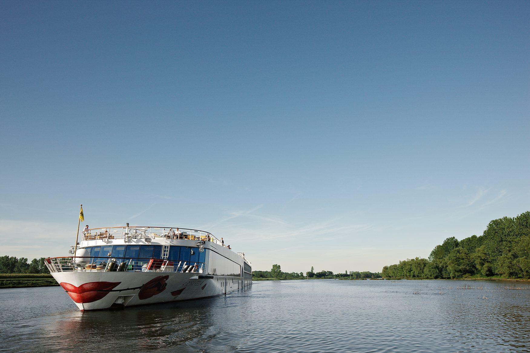 Ein A-ROSA-Schiff auf dem Rhein, Foto: A-ROSA