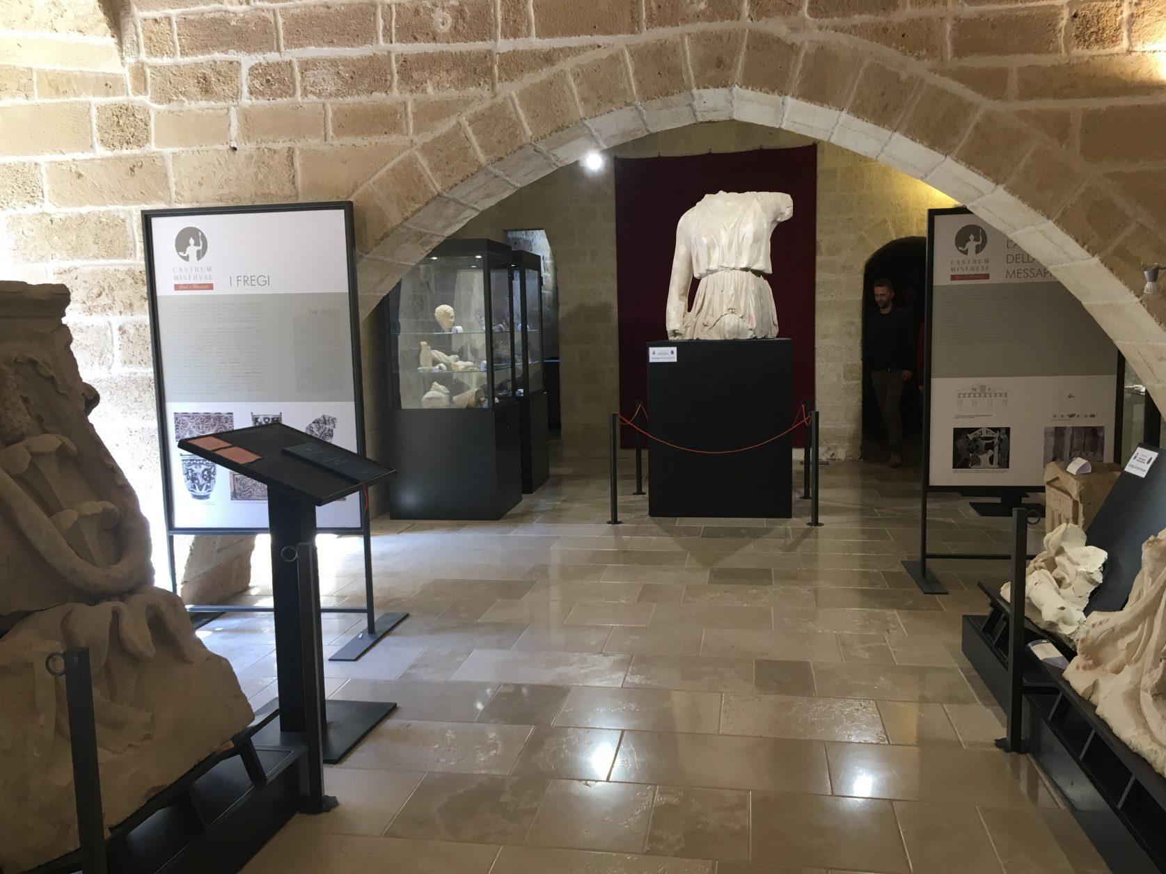 Blick in das neugestaltete Archäologische Museum von Castro in Apulien. Foto: D.Weira