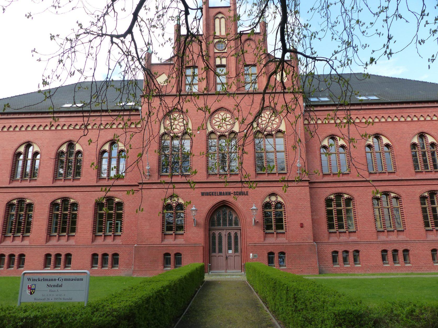 Das Winckelmann-Gymnasiums wurde 1898 errichtet. Foto: D.Weirauch