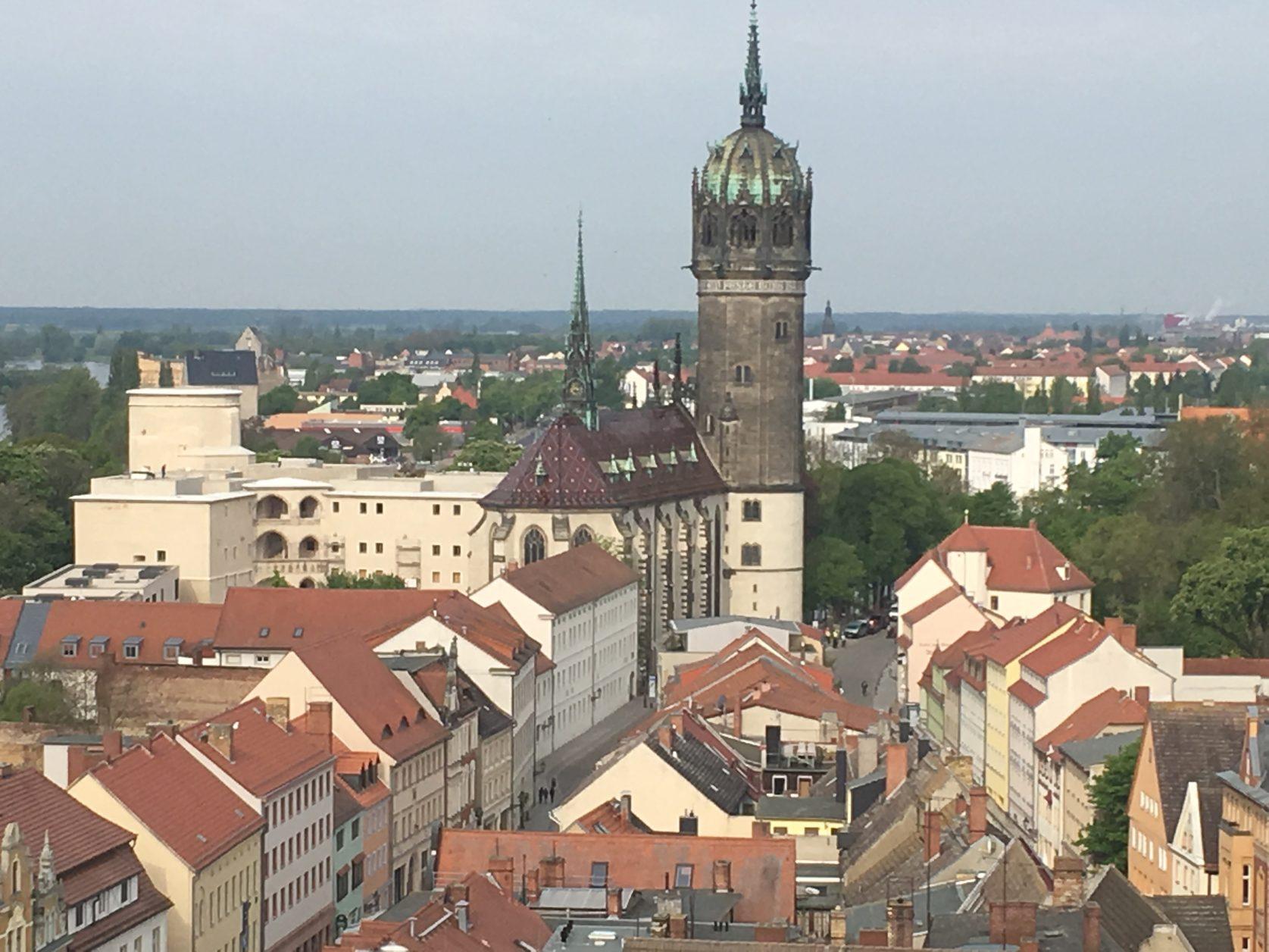 Blick auf Wittenbergs Schlosskirche, Foto: Weirauch
