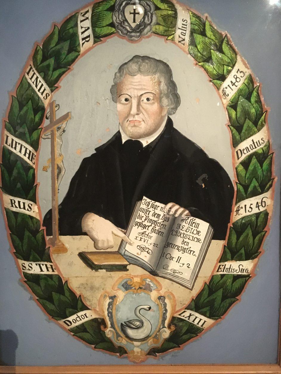 Porträt Martin Luthers aus dem Arbeitszimmer von Axel springer, 18.Jhdt., Foto: d.Weirauch